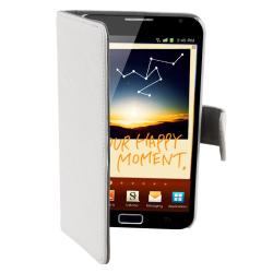 White Leather Case with Stand for Samsung Galaxy Note N7000