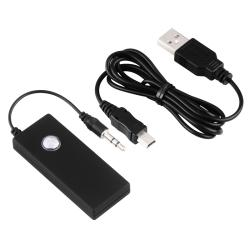 Black Universal Bluetooth Transmitter with 3.5mm S Audio Cable