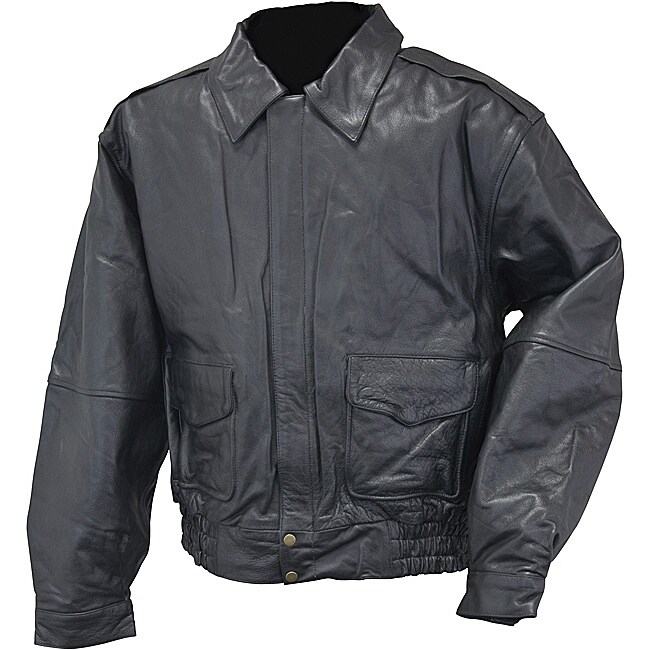 Mossi Men's 'Bomber' Leather Jacket