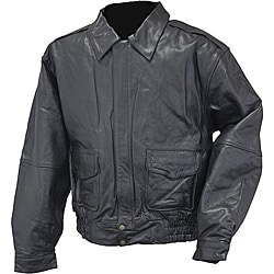 Mossi Men's 'Bomber' Leather Jacket