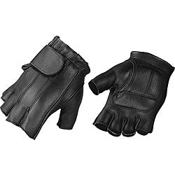 Raider Men's Deluxe Fingerless Leather Gloves