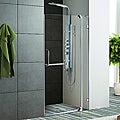 Vigo 42-inch Clear Glass Frameless Shower Door with Chrome Hardware
