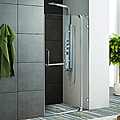 Vigo 36-inch Clear Glass Frameless Shower Door with Chrome Hardware