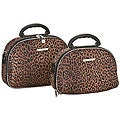 Luca Vergani Leopard 2-piece Cosmetic Case Set