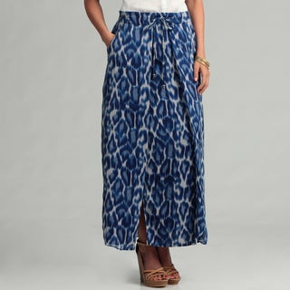 Jessica Simpson Junior's Blue Leopard Maxi Skirt