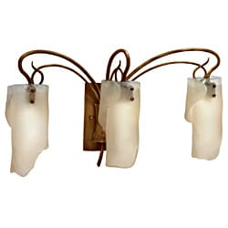 Soho 3-light Brown Hammered Ore Ice Glass Light Fixture