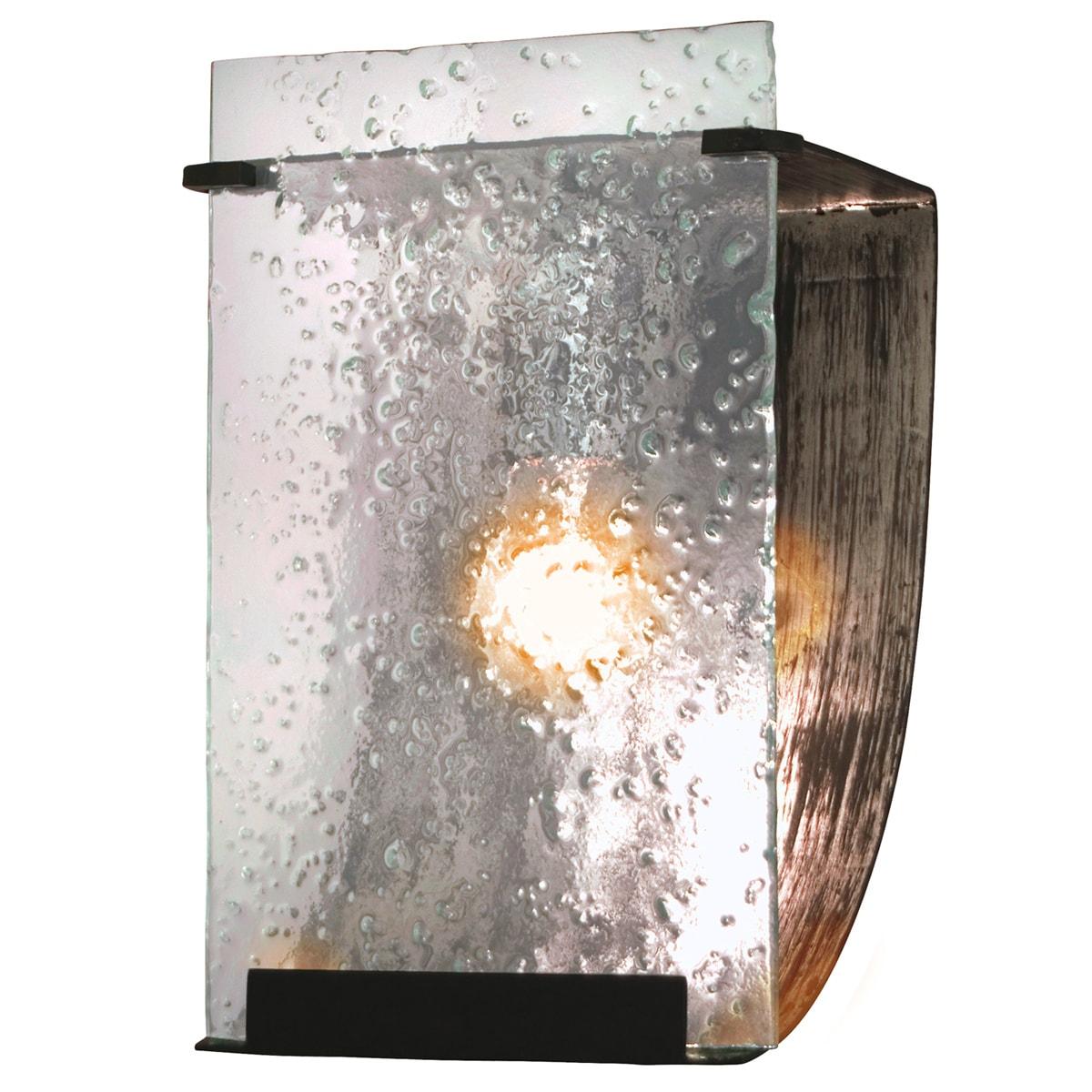 Soho Rainy Night Hand-pressed Glass 1-light Wall Fixture