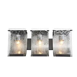 Soho Rainy Night Hand-pressed Glass 3-light Wall Fixture
