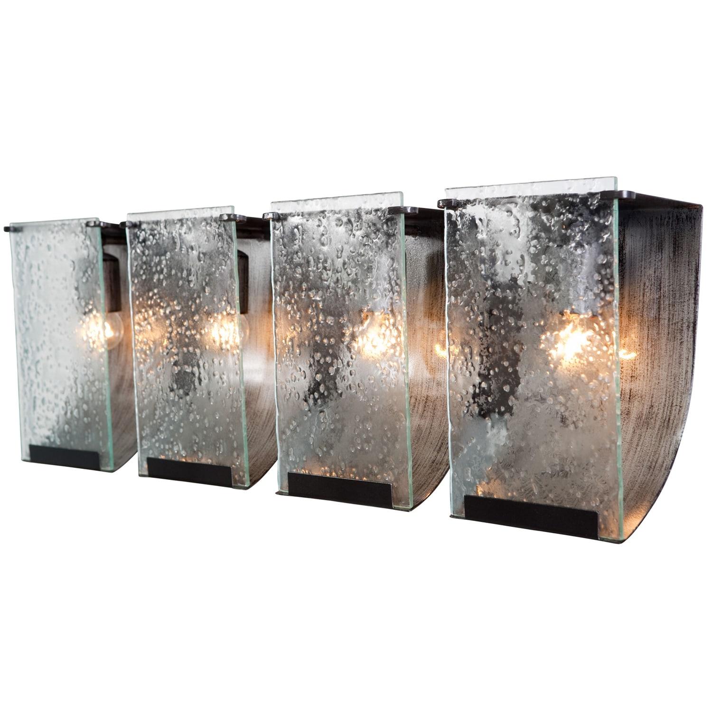 Soho Rainy Night Hand-pressed Glass 4-light Wall Fixture