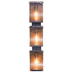Soho Rain Drops Hammered Ore Hand-pressed Glass 3-light Wall Fixture