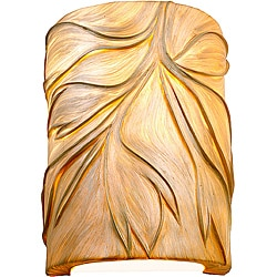 Flair Sustainable Natural Fiber 2-light Wall Sconce