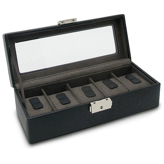 Morelle Leather Jefferson Watch Box (5 Watches)