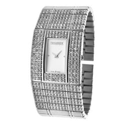 Haurex Women's Italy Natural White Crystal Watch