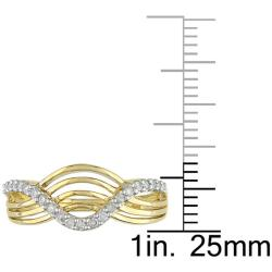 Miadora 10k Yellow Gold 1/5ct TDW Diamond  Ring (H-I, I2-I3)