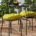 Lime 18-inch Round Outdoor Bistro Chair Cushion (Set of 2)