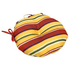 Mayan Stripe 15-inch Round Outdoor Bistro Chair Cushion (Set of 2)