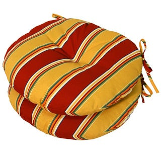 15-inch Round Outdoor Carnival Bistro Chair Cushions (Set of 2)