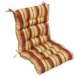 44x22-inch 3-section Outdoor Carnival High Back Chair Cushion