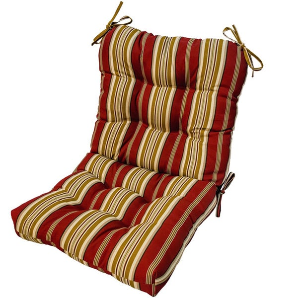 Outdoor Kinnabari Stripe Seat/ Back Combo Cushion