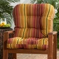 Outdoor 'Persian Stripe' Seat/ Back Combo Cushion