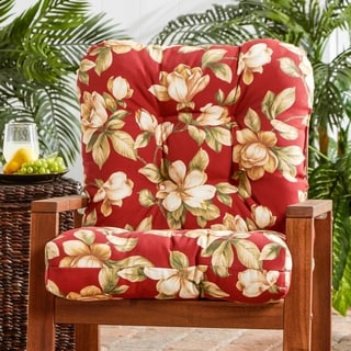 Outdoor 'Palazzo Floral' Seat/ Back Combo Cushion