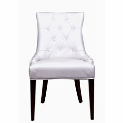 nuLOOM Concepts White Leatherette/ Wood Chair
