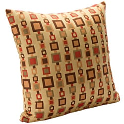 Contemporary 'Life Link' Sqaure Accent Pillow