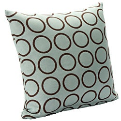 Dana 16-inch Square Blue/ Brown Contemporary Accent Pillow