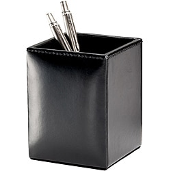 Dacasso Econo-Line Solid-color Faux-leather Square Pencil Cup