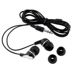 BasAcc 3.5mm In-Ear Stereo Headset, Black / Silver (Pack of 2)