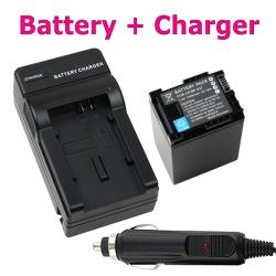 BasAcc Decoded Li-ion Battery/ Charger for Canon BP-827/ VIXIA HF 11