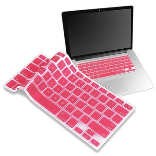 BasAcc Light Pink Silicone Protective Keyboard Skin Shield for Apple MacBook Pro