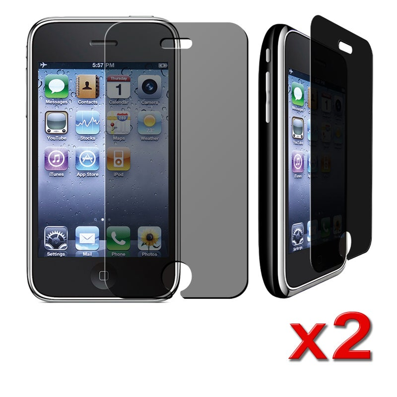 BasAcc Privacy Filter Protector for Apple iPhone 3G/ 3GS (Pack of 2)