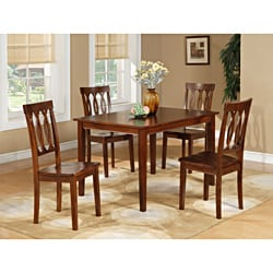 Espresso 5-piece Dining Table and Chairs Set