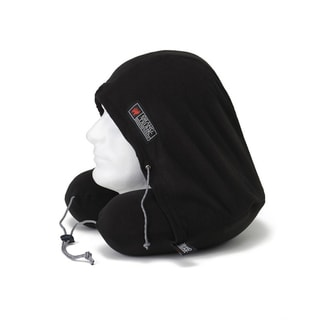 Grand Trunk Gray Hooded Memory Foam Micro-fleece Travel Pillow
