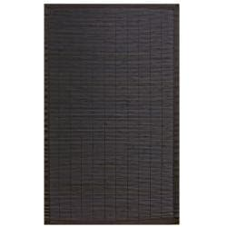 Midnight Bamboo Rug with Black Border (5' x 8')