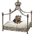 Antique Gold Iron Crown Canopy Pet Bed