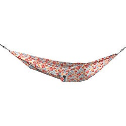 Grand Trunk White Hibiscus Print Nylon Double Parachute Hammock