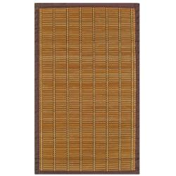 Zenith Bamboo Rug with Brown Border (4' x 6')