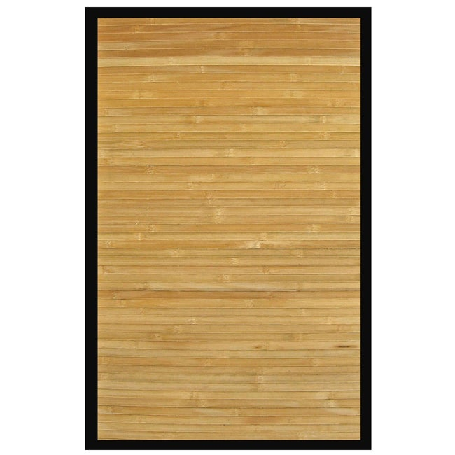 Namaste Bamboo Rug With Black Border 5 X 8 14155431