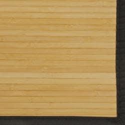 Namaste Bamboo Rug with Black Border (5' x 8')