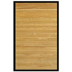 Namaste Bamboo Rug with Black Border (5' x 8')