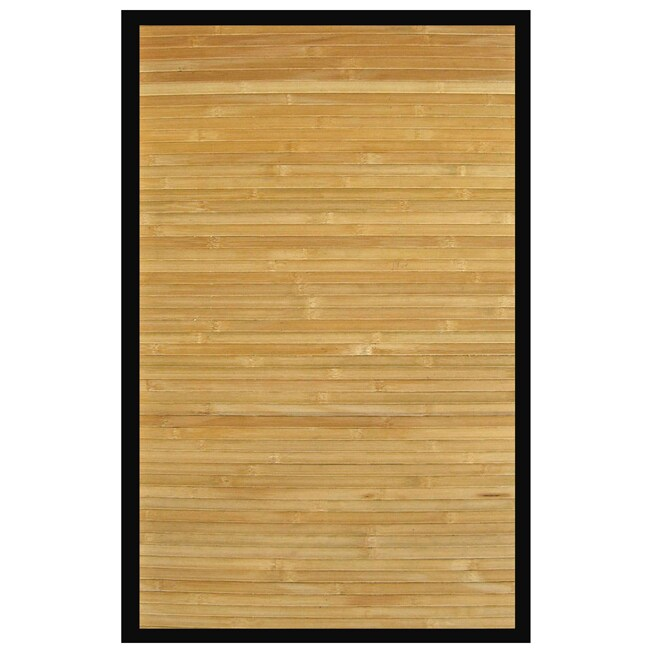 Namaste Bamboo Rug with Black Border (4' x 6')