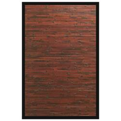 Apyan Mahogany Bamboo Rug with Black Border (7' x 10')