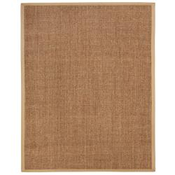 Beachcomber Sisal Boucle Weave Rug with Khaki Cotton Border (2'6 x 8')