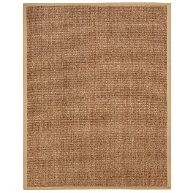 Beachcomber Sisal Boucle Weave Rug with Khaki Cotton Border (9' x 12')