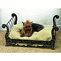 Faux Antique Brass Iron and Tole Pet Sleigh Bed