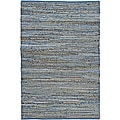 Hand Woven Blue Jeans Rug (4' x 6')