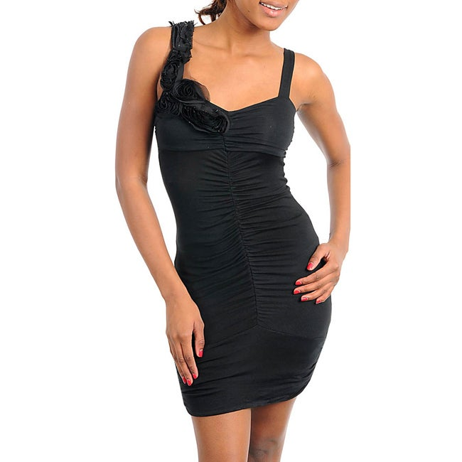 Stanzino Women's Black Sleeveless Mini Dress