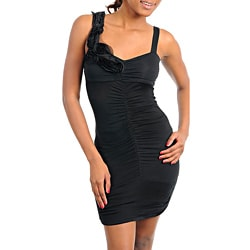 Stanzino Women's Black Sleeveless Mini Dress